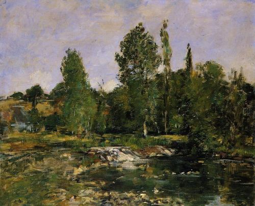 Saint-Cenery, a Pond by Eugène Boudin
