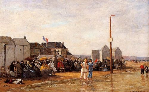 The Bathing Hour at Trouville by Eugène Boudin