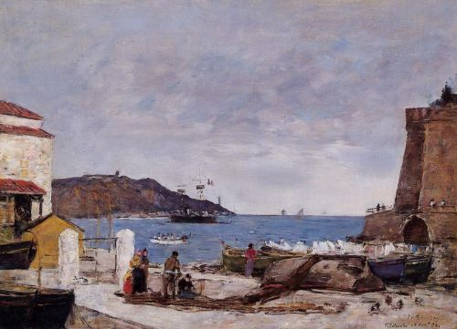 The Bay of Villefranche, the Port by Eugène Boudin