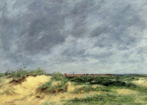 The Berck Dunes by Eugène Boudin