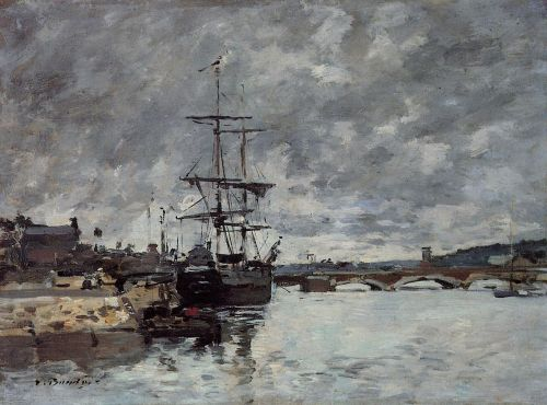 The Bridge over the Toques at Deauville by Eugène Boudin