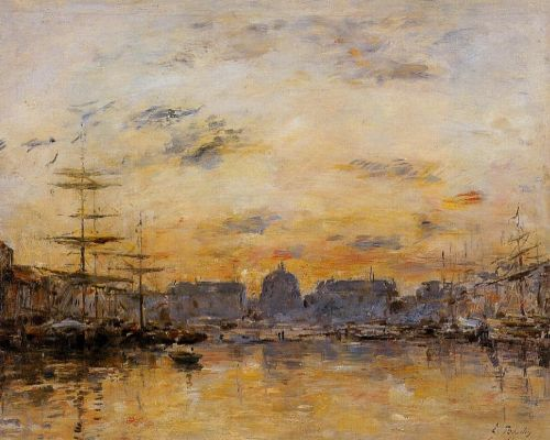 The Commerce Basin, Le Havre by Eugène Boudin