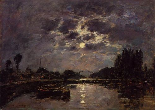 The Effect of Moonlight by Eugène Boudin