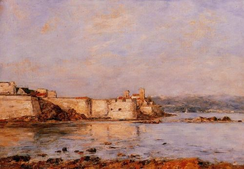 The Harbor of Antibes by Eugène Boudin