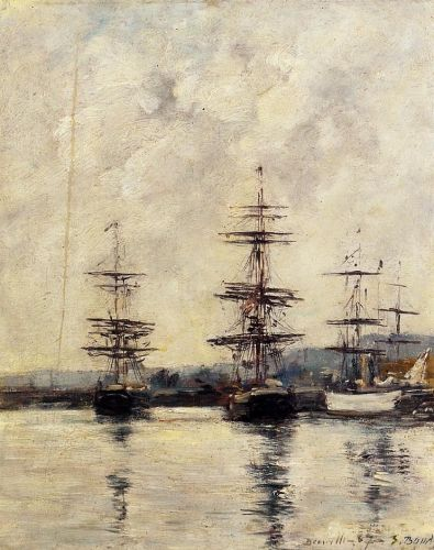 The Port, Deauville by Eugène Boudin