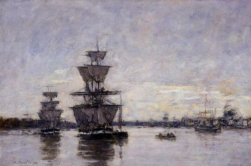 The Port of Bordeaux by Eugène Boudin