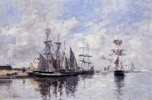 The Port of Deauville by Eugène Boudin