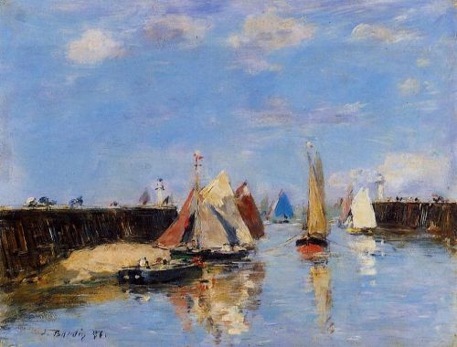 The Port of Trouville by Eugène Boudin