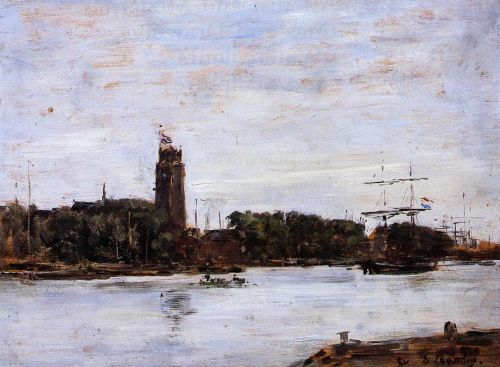 The River Scheldt by Eugène Boudin