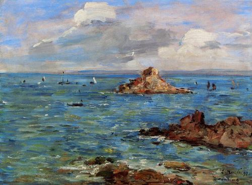 The Sea at Douarnenez by Eugène Boudin