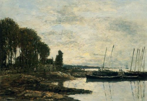 The Shore at Plougastel by Eugène Boudin