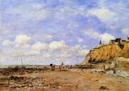 The Shore at Villerville by Eugène Boudin