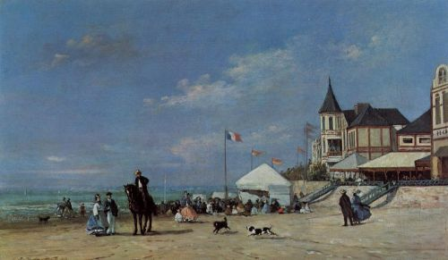 The Trouville Beach by Eugène Boudin