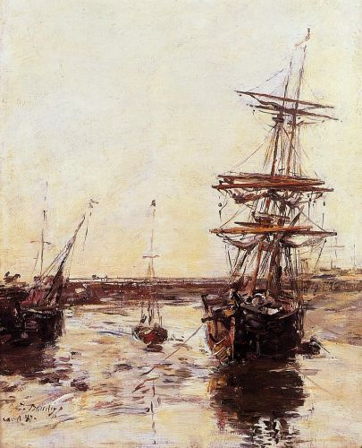 Trouville - The Outer Harbor by Eugène Boudin