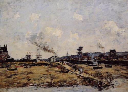 Trouville, the Ferry to Deauville by Eugène Boudin
