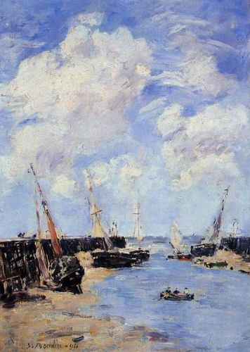 Trouville, the Jettys, Low Tide by Eugène Boudin