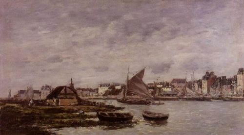 Trouville, the Port by Eugène Boudin