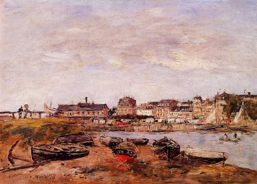 Trouville, the View from Deauville on Market Day by Eugène Boudin