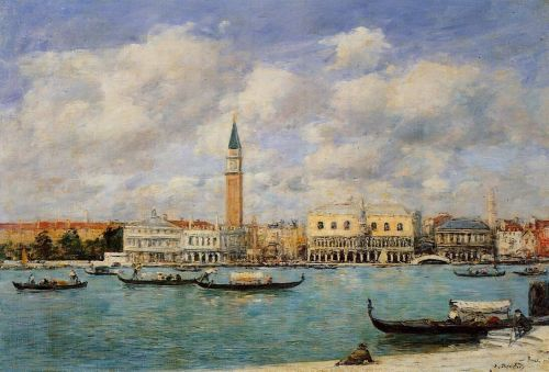 Venice, the Campanile, View of Canal San Marco from San Gior by Eugène Boudin