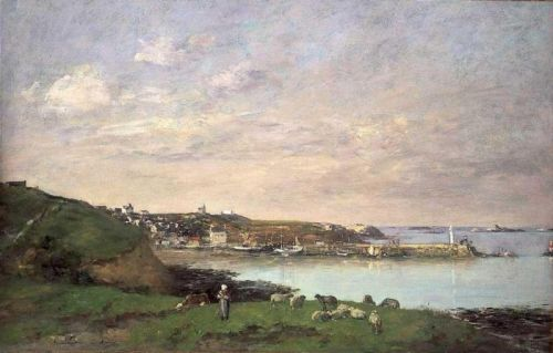 View at Saint-Quay-Portriaux by Eugène Boudin