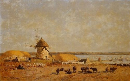 View from the Camaret Heights by Eugène Boudin