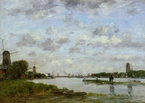 View of Dordrecht by Eugène Boudin
