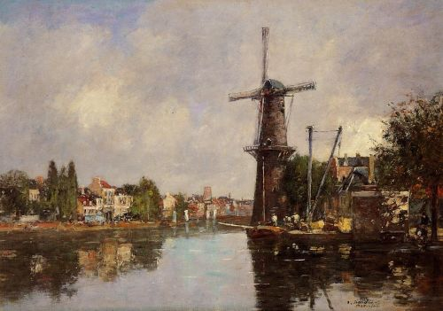 View of Rotterdam by Eugène Boudin