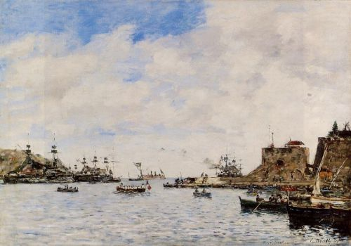 Villefranche, the Harbor by Eugène Boudin