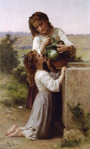 A la Fontaine by William-Adolphe Bouguereau