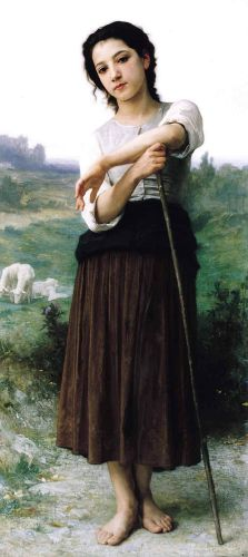 Bergère by William-Adolphe Bouguereau