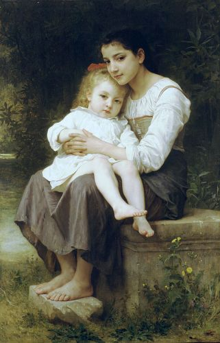 Big sister by William-Adolphe Bouguereau