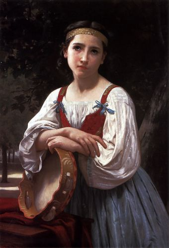 Bohemienne au Tambour de Basque by William-Adolphe Bouguereau