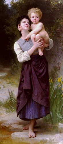 Brother and Sister by William-Adolphe Bouguereau