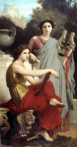 L'Art et la Litterature by William-Adolphe Bouguereau