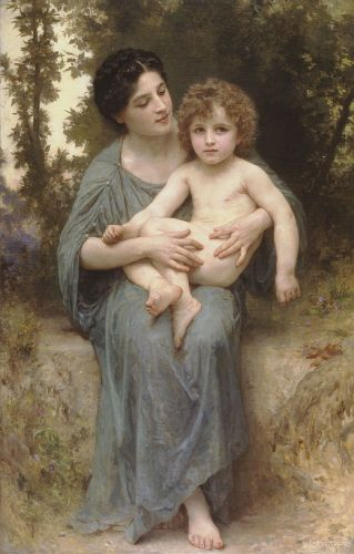 Little brother by William-Adolphe Bouguereau