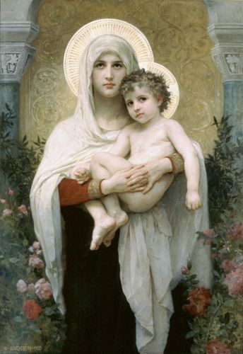 Madonna of the Roses by William-Adolphe Bouguereau