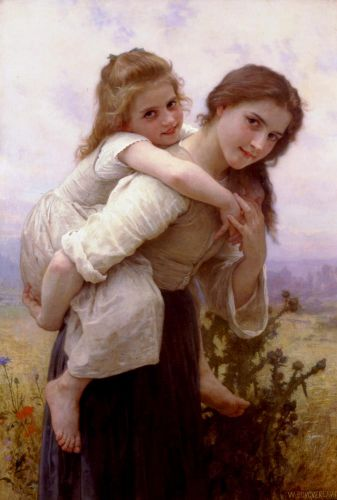 Not too Much to Carry by William-Adolphe Bouguereau