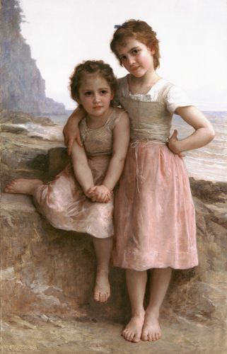 On the Rocky Beach by William-Adolphe Bouguereau