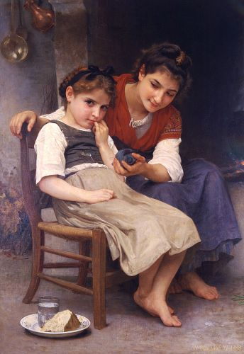 Petite boudeuse by William-Adolphe Bouguereau
