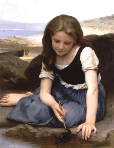 The Crab by William-Adolphe Bouguereau