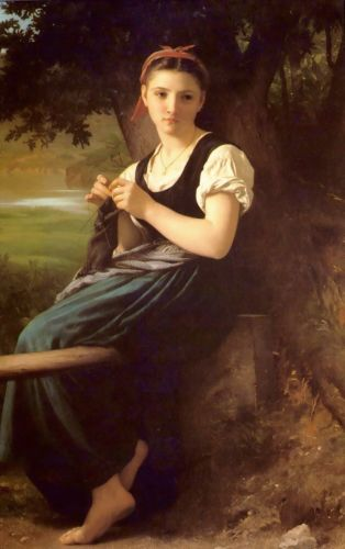 The Knitt by William-Adolphe Bouguereau