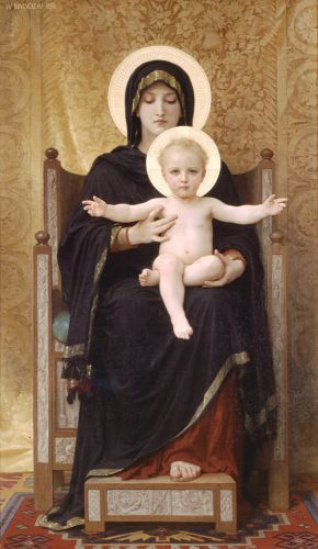The Seated Madonna by William-Adolphe Bouguereau