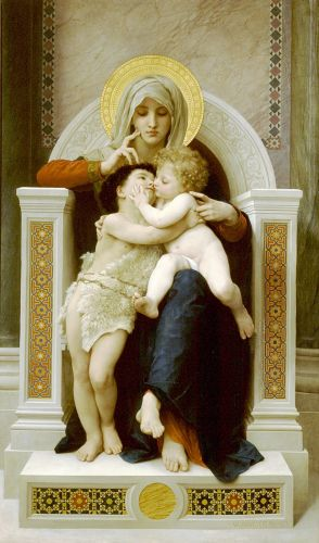 The Virgin, the Baby Jesus and Saint John the Baptist by William-Adolphe Bouguereau