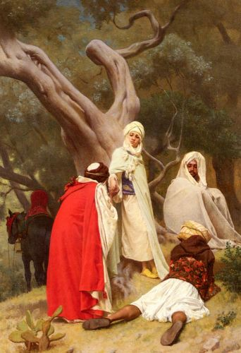 Reception Of An Emir by Gustave Boulanger