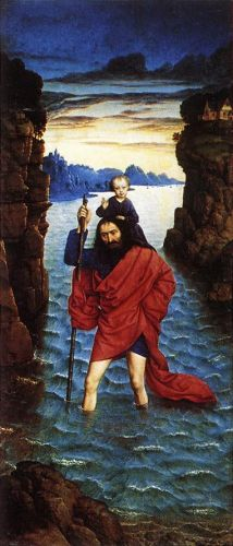 Saint Christopher by Dieric the Younger Bouts