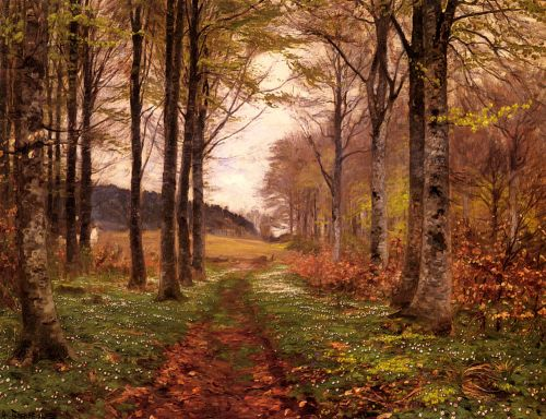 A Woodland Landscape by Hans Anderson Brendekilde