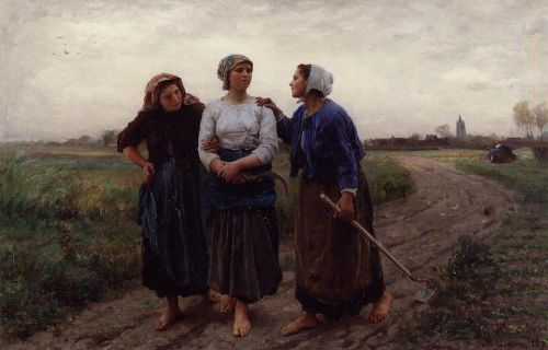 Setting out for the Fields by Jules Breton