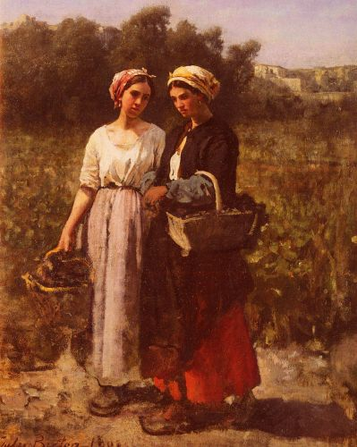 The Grape Harvest at the Chateau-Lagrange by Jules Breton