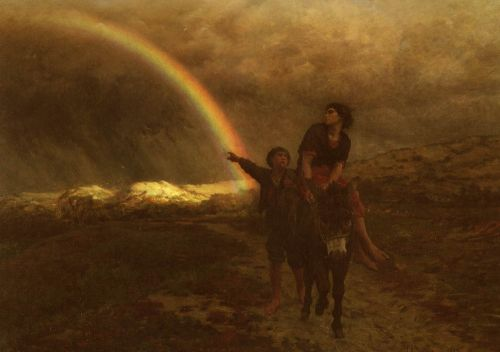The Rainbow by Jules Breton