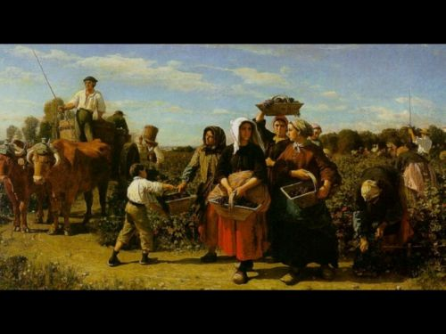 The Vintage at Chateau Lagrange by Jules Breton